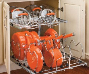 Now you'll no longer have to pull out every pot and pan in the cabinet to get to the one you need!