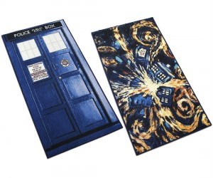 TARDIS Rug – Maybe it'll make the inside of your house bigger than it actually is.