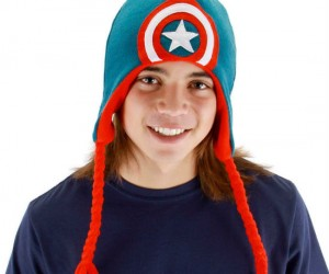 Show your support for the all American super hero, Captain America, and keep your head warm at the same time!