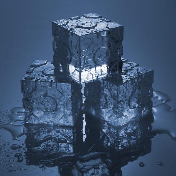 companion cube ice tray