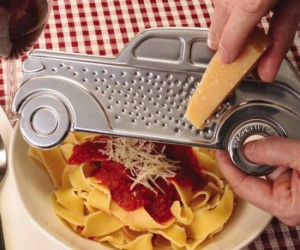 Gangster Car Cheese Grater – Now your cheese will get what's coming to it.