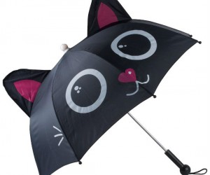 Meowing Cat Umbrella – I always thought cats hated water…