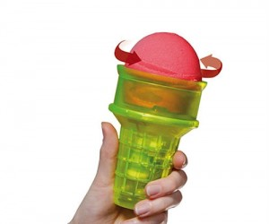 Motorized Ice Cream Cone – A whole new level of lazy, just hang your tongue out and let the ice cream do all the work.