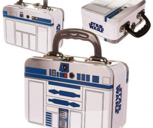 R2D2 Tin Tote Lunchbox – Made from authentic R2D2 parts beep boop bop beep