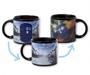 Disappearing TARDIS MUG – Just add a hot beverage and the TARDIS disappears right before your very eyes!