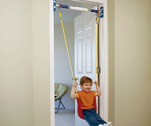 With the indoor strap swing you can swing no matter what the weather is like.