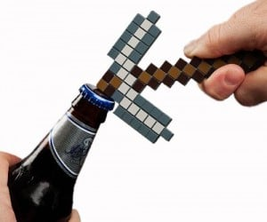 Minecraft Pickaxe Bottle Opener – Perfect for breaking square blocks and opening beers.