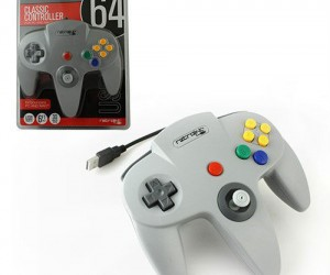 This classic USB N64 Controller can be used on any mac or pc!
