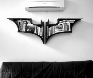 Batman Symbol Bookshelf – The perfect addition to your batcave.
