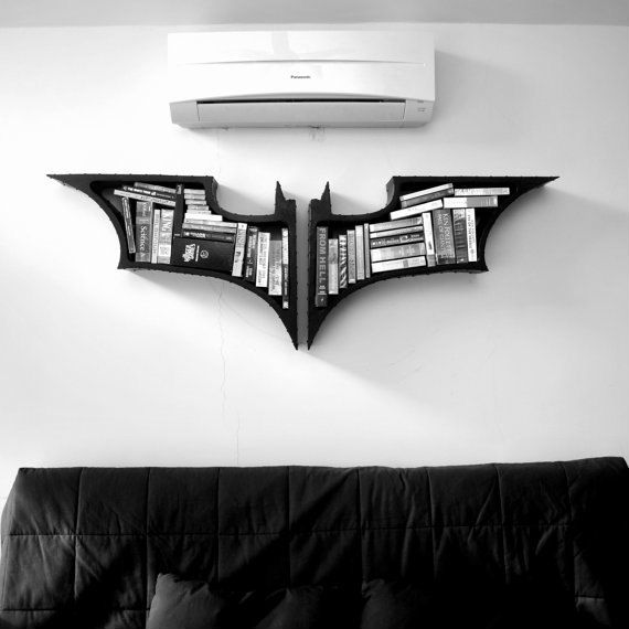 batman symbol bookshelf