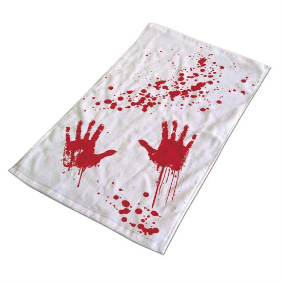 bloody bath towel
