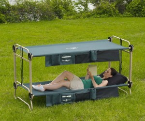Now you can fight over who gets the top bunk even when you're camping!