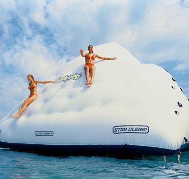 giant floating iceberg slide