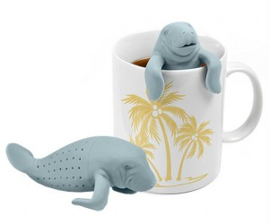 """Who better to infuse your tea than a manatee, they have """"tea"""" right in the name!"""