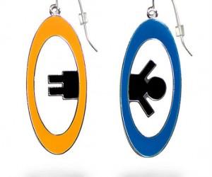 Portal 2 Earrings – Maybe your head is so hollow it's just a portal between ears.