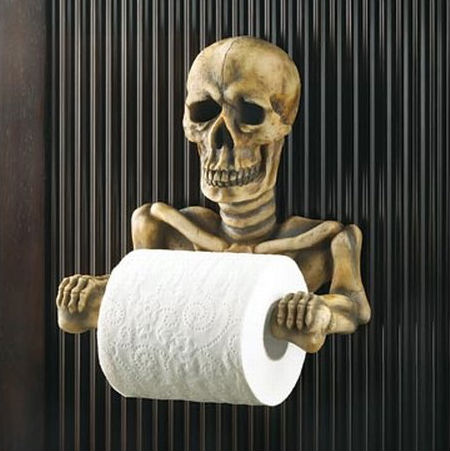 skeleton toilet paper holder