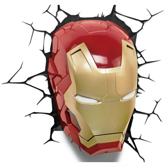 3d iron man wall light off