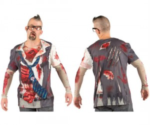 Who knew dressing up like a zombie would be as easy as wearing a t-shirt?