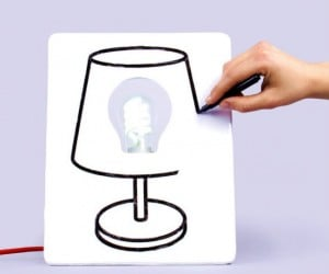 Draw Lamp – Now you can change the look of your lamp as often as you change your mood!