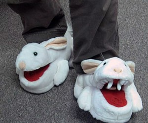 Killer Bunny Slippers – Be careful wearing these bunny slippers, you never know if they're gonna turn on you!