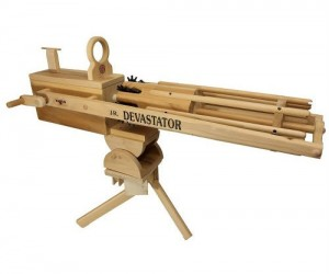 Rubber Band Gatling Gun – Your little brother will never know what hit him.