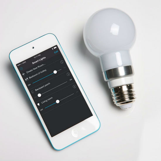 smartphone controlled light bulb