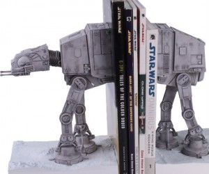 Star Wars AT-AT Bookends – Just don't wrap anything around the legs or it might fall over.