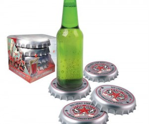 Bottle Cap Coasters – Now the caps can go over and under the bottle!