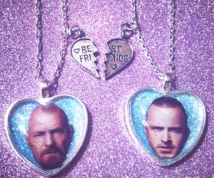 Breaking Bad Friendship Necklaces – Based on one of the greatest love hate relationships in all of tv history.