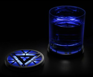 Iron Man Light Up Arc Reactor Coasters – They light up but they don't shoot repulser beams so you don't have to worry about your glasses breaking.