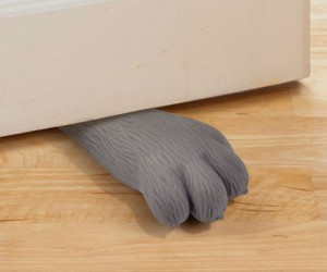 No kitties were harmed in the making of this kitty paw doorstop!