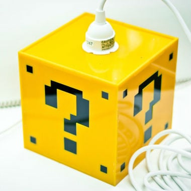 mario question mark block lamp