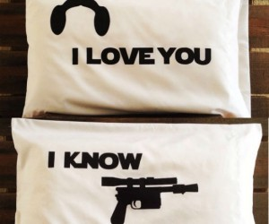 What better way to tell your Han you love him than with handmade Star Wars pillow cases?