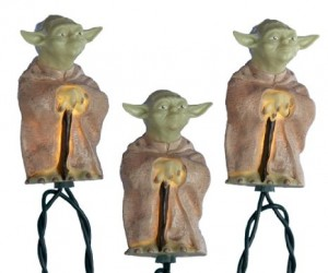 If you fear the  dark side, then it's time to become enlightened with these Star Wars Yoda lights.