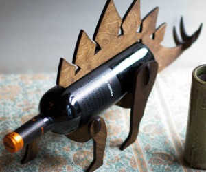Stegosaurus Wine Holder or WineOSaur – Perfect for the sophisticated paleontologist.