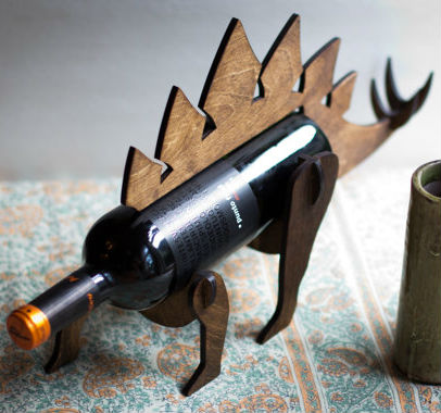 stegosaurus wine holder