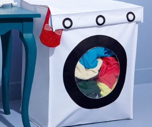 Too bad you still have to put your clothes in a real washing machine to actually get them clean though.