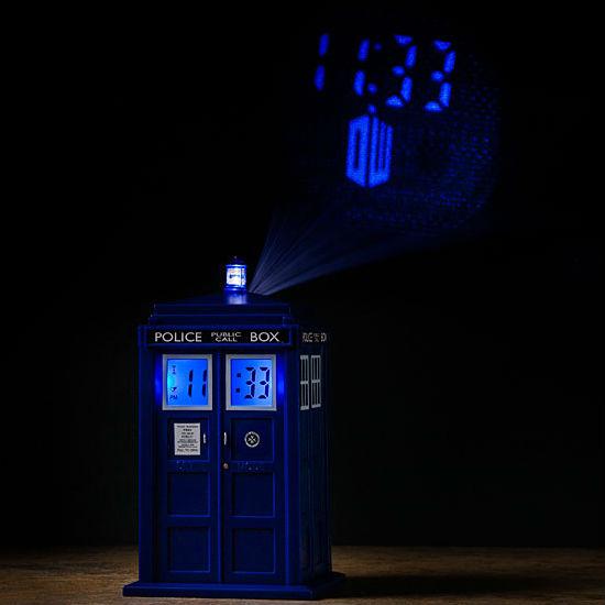 TARDIS projection clock