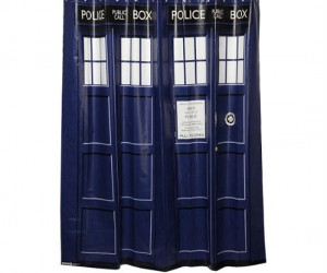 Doctor Who TARDIS Shower Curtain – Make your shower bigger on the inside!
