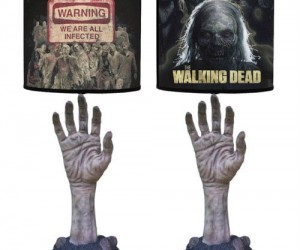 The Walking Dead Zombie Lamp – Every time you turn on the light you might jump at the sight of a zombie reaching for you!
