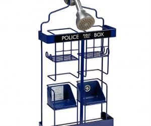 Doctor Who TARDIS Shower Rack – It will make showers that are smaller on the inside seem a little bit bigger!