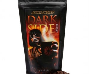 Star Wars Dark Side Coffee – The caffeine is strong with this one. Gourmet whole bean coffee, hand roasted by Stormtroopers!