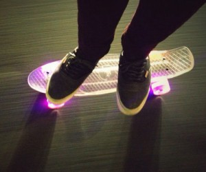 Light Up Skateboard – Feel like your skating tricks need a little flash?