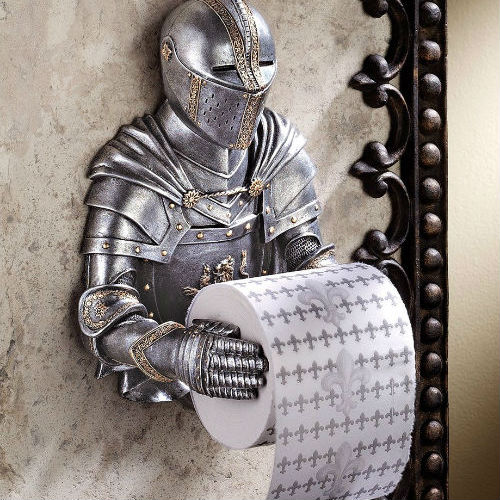 medieval knight toilet paper