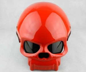 Red Skull Motorcycle Helmet – People will actually think the Avenger's Red Skull is riding down the street.