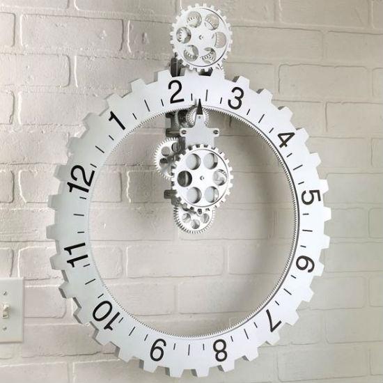 revolving gears wall clock