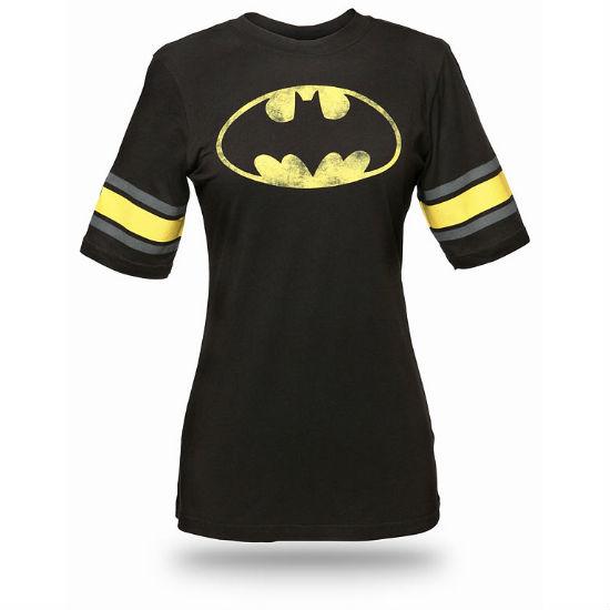 batman hockey babydoll tee
