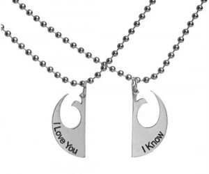 Take your friendship to the next level with the Star Wars I Love You I Know necklace!