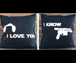 Star Wars I love you, I know. throw pillows – You'll never find throw pillows in the galaxy more comfortable than these.