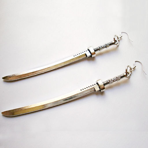 michonee katana walking dead earrings